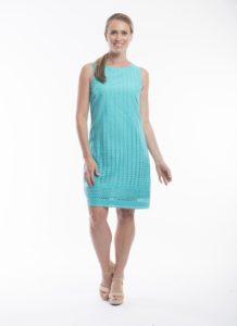 Orientique Essential Broderie Dress- Aqua