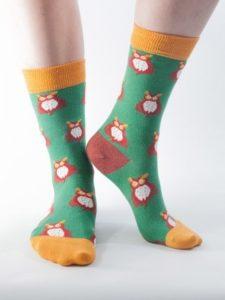 doris-dude-womens-green-owl-socks-8694-0